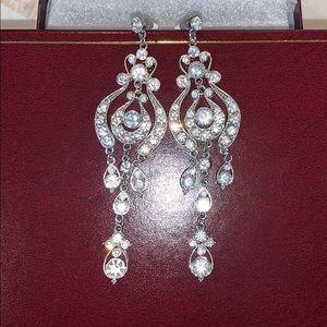 Rhinestone champagne earrings
